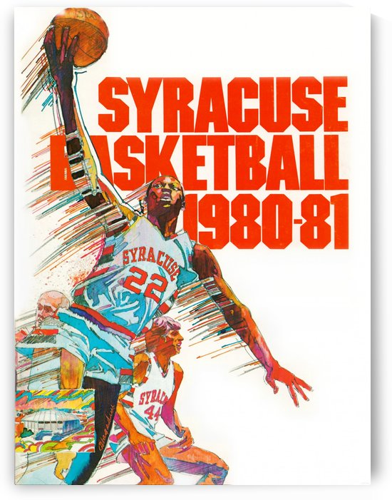 1980 syracuse orange basketball poster by Row One Brand