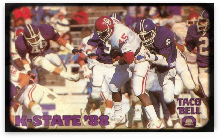 1988 Kansas State Wildcats Taco Bell Football Poster by Row One Brand