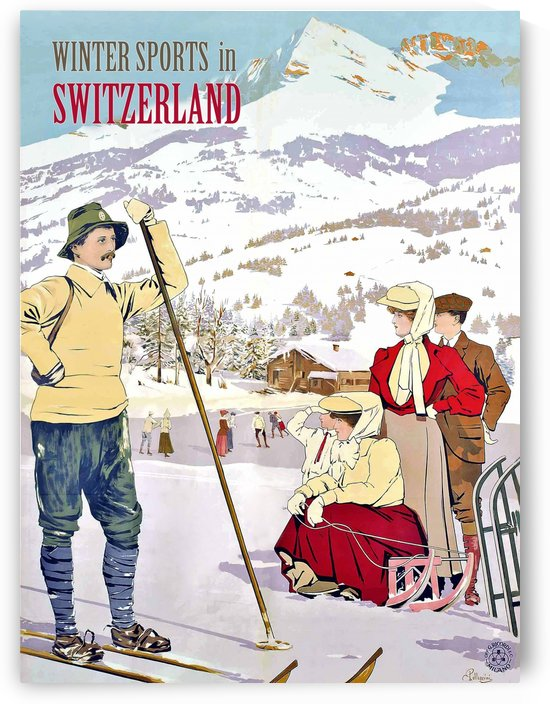 Winter Sports in Switzerland by vintagesupreme