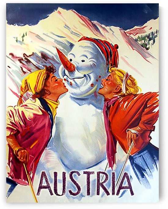 Kissing Snowman in Austria by vintagesupreme