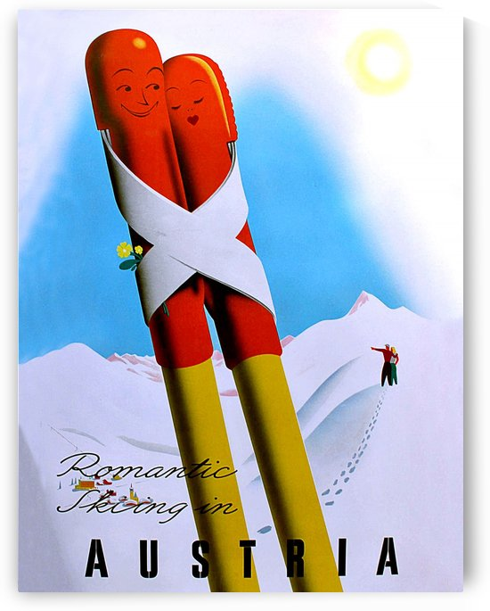 Romantic Skiing in Austria by vintagesupreme