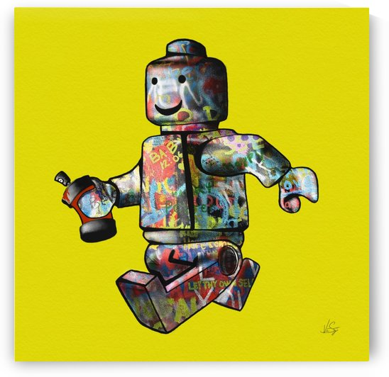 Graffiti Lego Man by Vincent Santiago