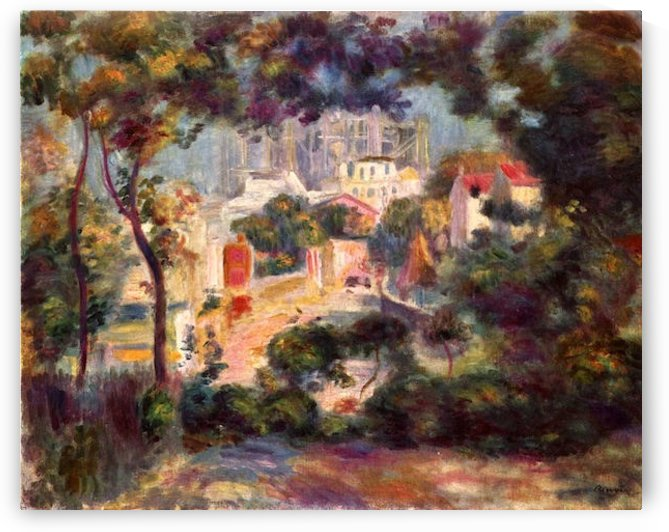 Landscape with the view of Sacre Coeur by
