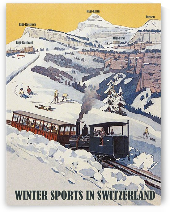 Winter Sports in Switzerland by vintagesupreme