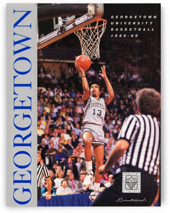 College Basketball 1988 Georgetown Hoyas Poster Charles Smith Jersey Number 13 by Row One Brand