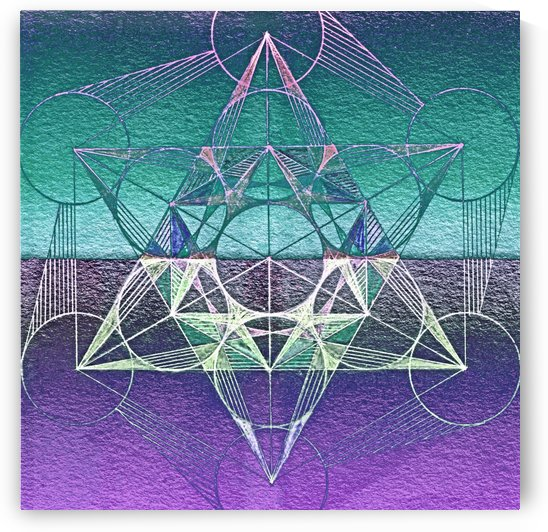 Cube of Metatron Purple Blue by CvetiArt
