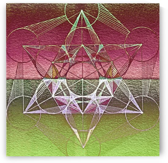 Cube of Metatron Red Green by CvetiArt