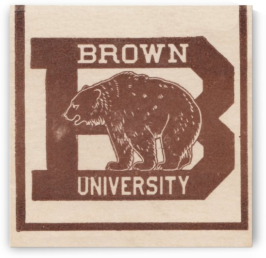 College Wall Art Vintage Brown University Bears Logo by Row One Brand