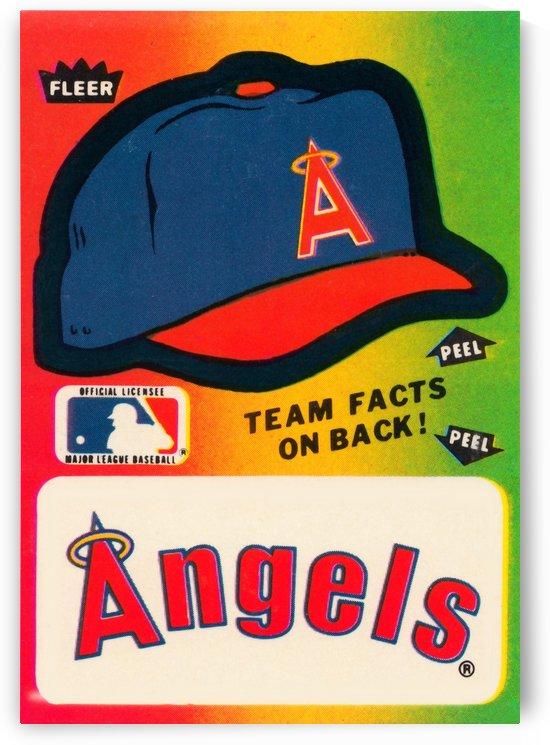 1983 fleer baseball sticker california angels poster by Row One Brand