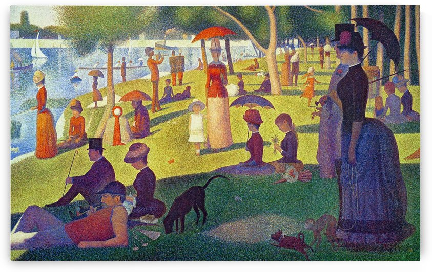 Georges Seurat: A Sunday Afternoon on the Island of La Grande Jatte HD 300ppi by Famous Paintings