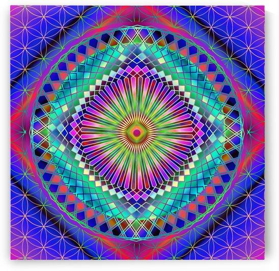 Vintage Sun Mandala by CvetiArt