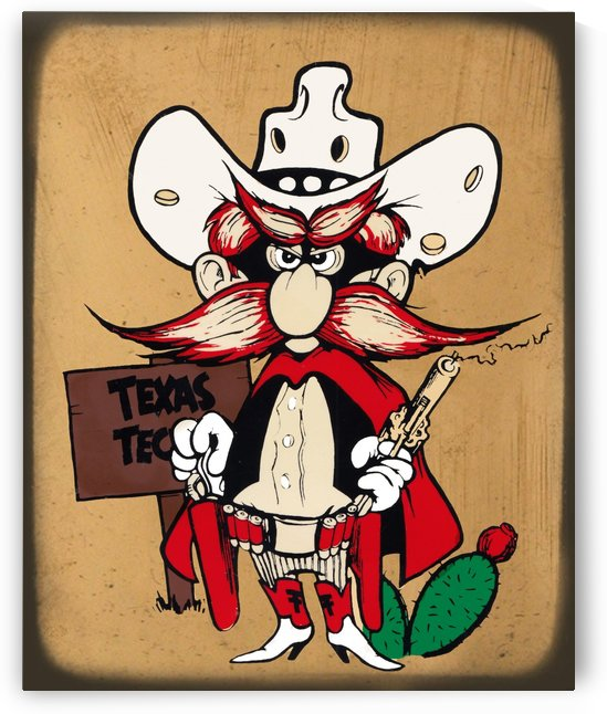 Vintage Texas Tech Art by Row One Brand