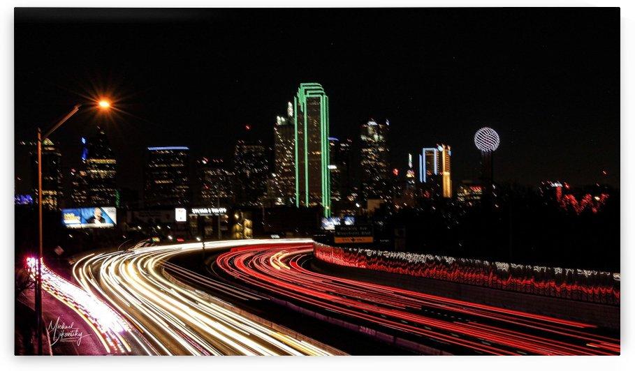 Dallas City Lights by Michael Stephen Dikovitsky