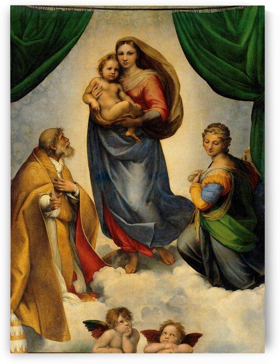 Raphael: Raffaello Sanzio da Urbino -Sistine Madonna HD 300ppi by Stock Photography