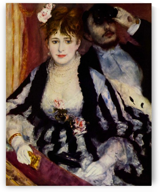 Pierre Auguste Renoir: La Loge HD 300ppi by Famous Paintings