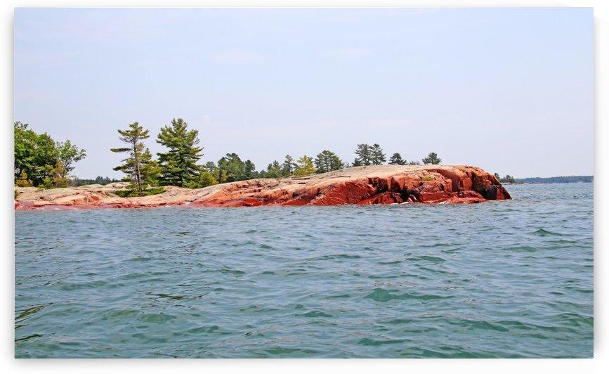 Pink Granite Of Georgian Bay I by Deb Oppermann