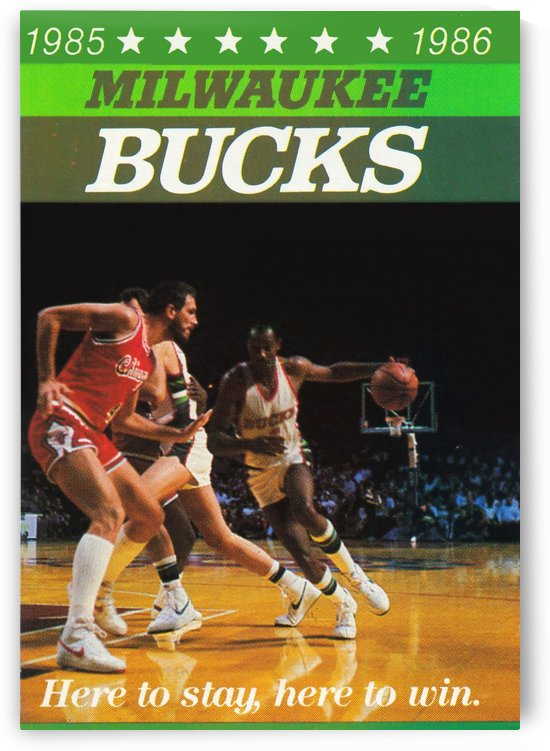 1985 milwaukee bucks poster sidney moncrief by Row One Brand