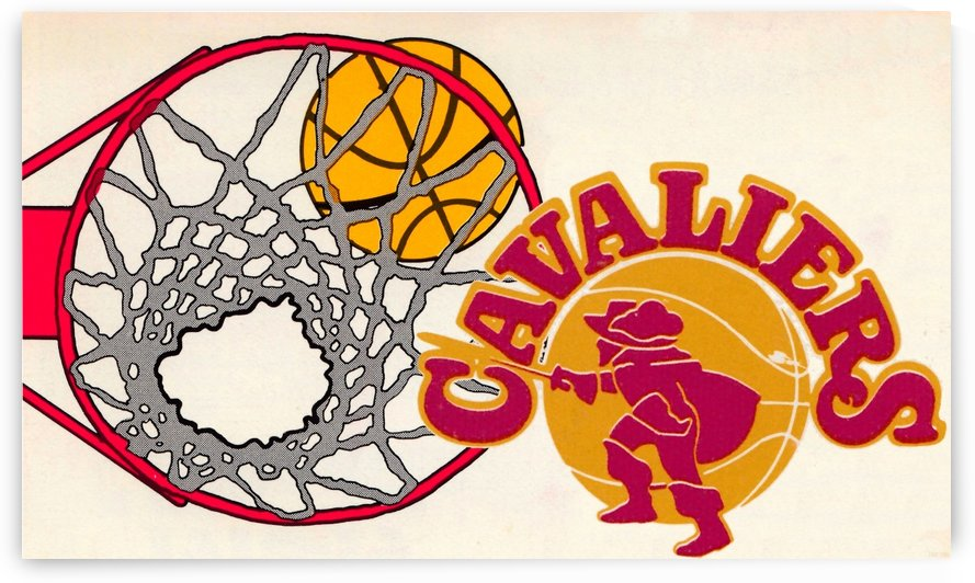 1978 Cleveland Cavaliers Retro Basketball Art by Row One Brand