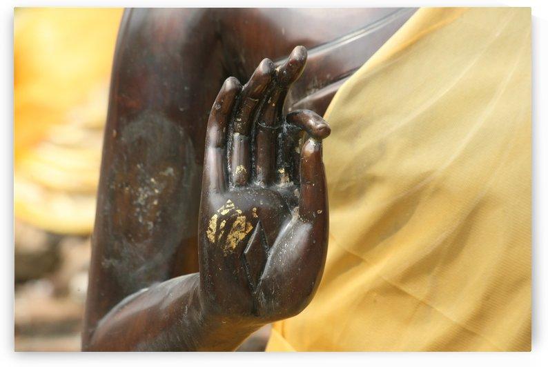 Black Buddha Hand - Ayutthaya 5558 by Move-Art