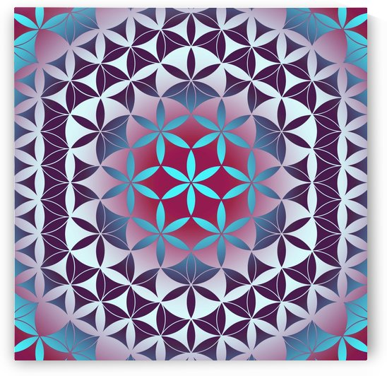 Flower of Life Hexagon Pattern by CvetiArt