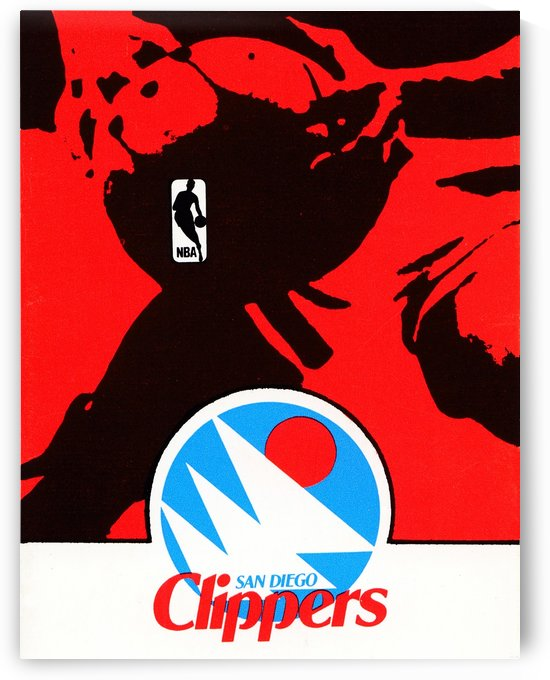 1978 san diego clippers nba poster by Row One Brand