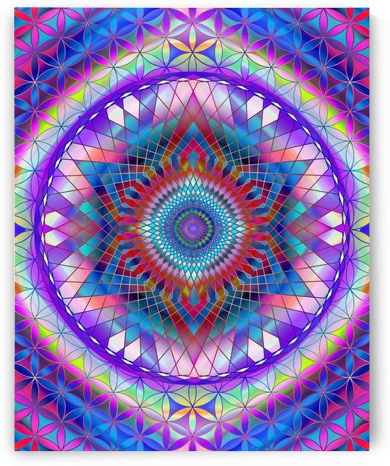 Purple Snowflake Mandala by CvetiArt