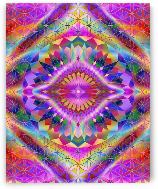 Vintage Purple Mandala by CvetiArt
