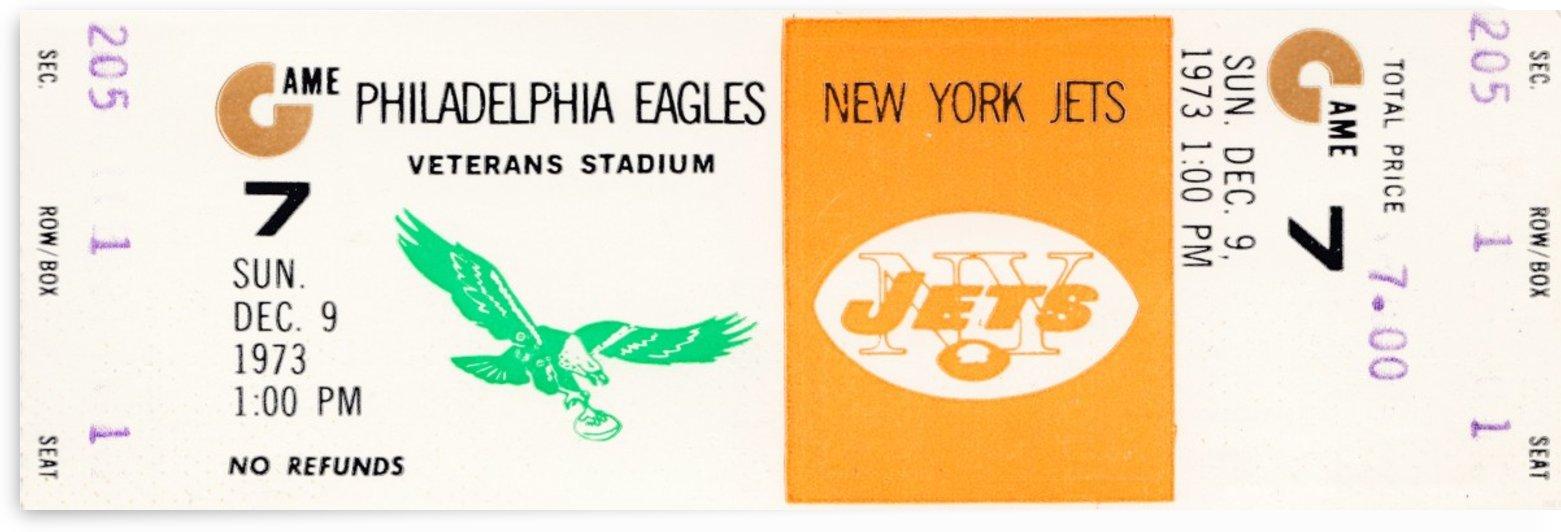 1973 new york jets philadelphia eagles veterans stadium nfl ticket by Row One Brand