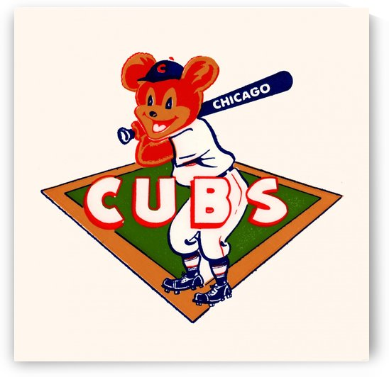 1940 chicago cubs row one brand wood sign by Row One Brand