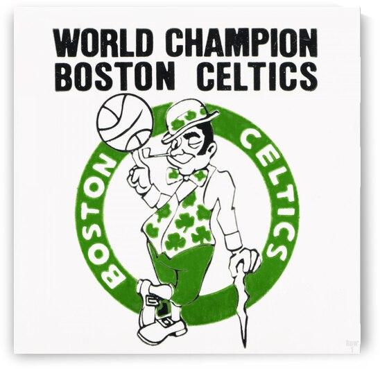 1981 Boston Celtics World Champions Art Reproduction by Row One Brand