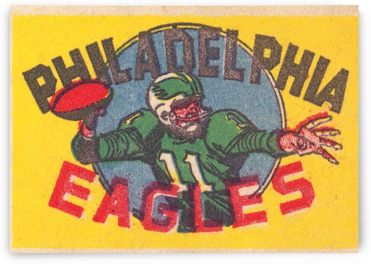 philadelphia eagles vintage quarterback football art by Row One Brand