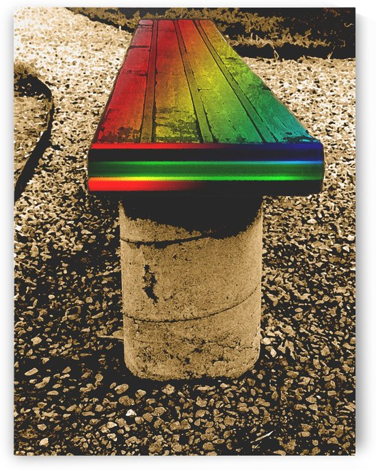 Rainbow On A Bench by ImagesAsArt By John Louis Benzin