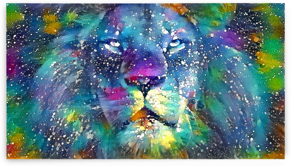 Splatter Lion by MadeByPrint