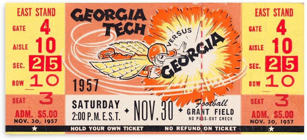 1957 Georgia vs. Georgia Tech Yellow Jackets by Row One Brand