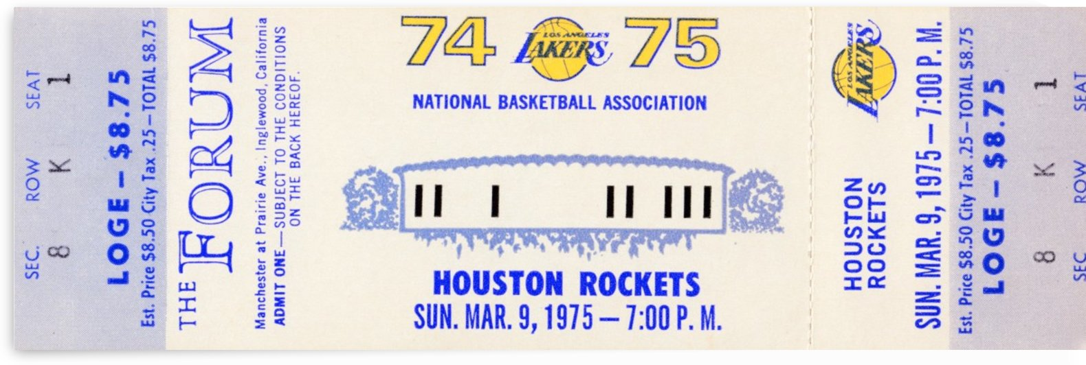 1974 Los Angeles Lakers by Row One Brand