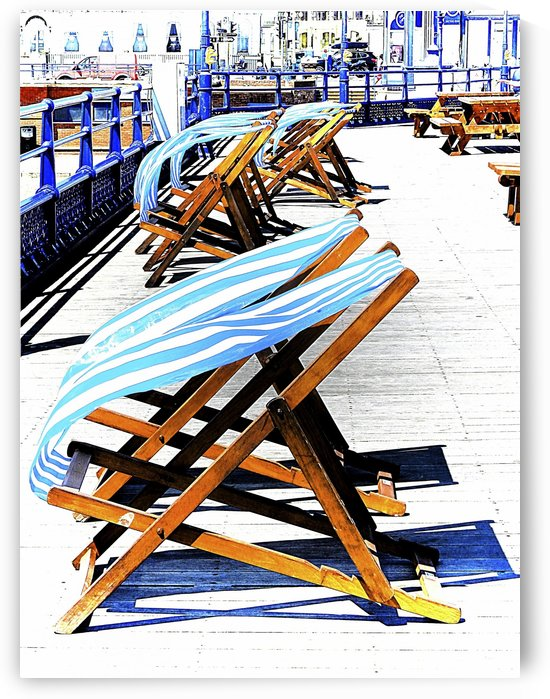 Windy Day on Eastbourne Pier by Dorothy Berry-Lound