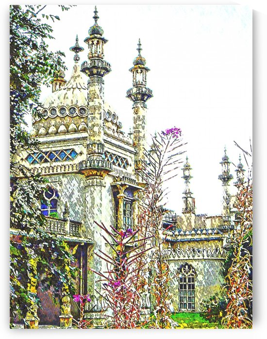 View to the Royal Pavilion Brighton by Dorothy Berry-Lound