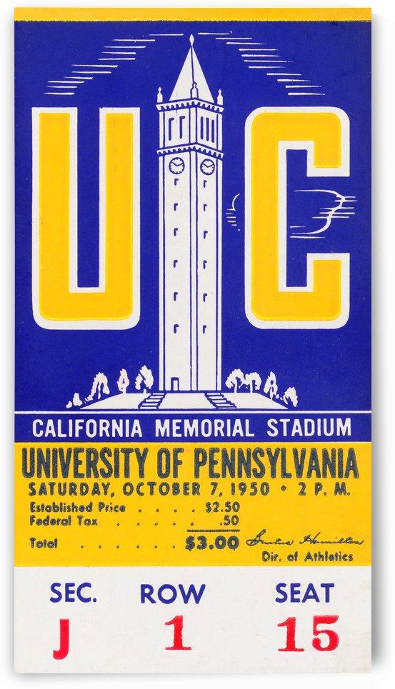 1950 Pennsylvania vs. California by Row One Brand