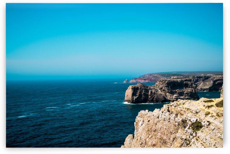 beach sea coast rock ocean horizon by ANA PAULA RIUS