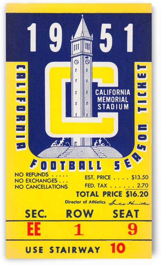 1951 college football season ticket cal bears row 1 by Row One Brand