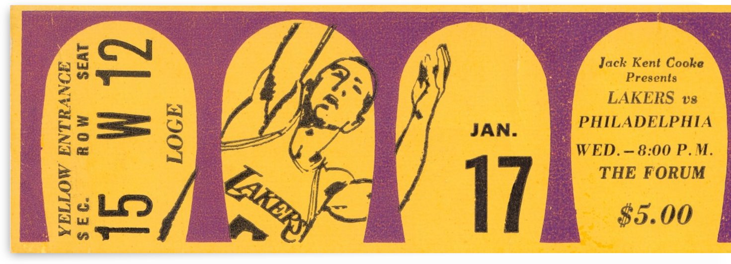 1968 LA Lakers  by Row One Brand