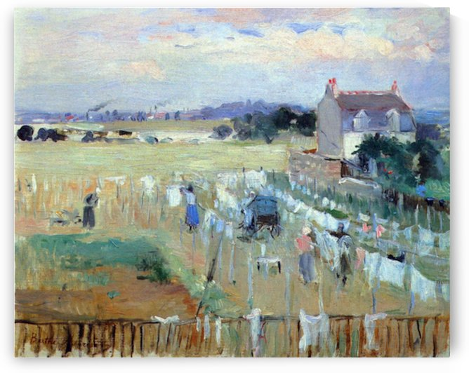 Laundry drying by Morisot by Morisot