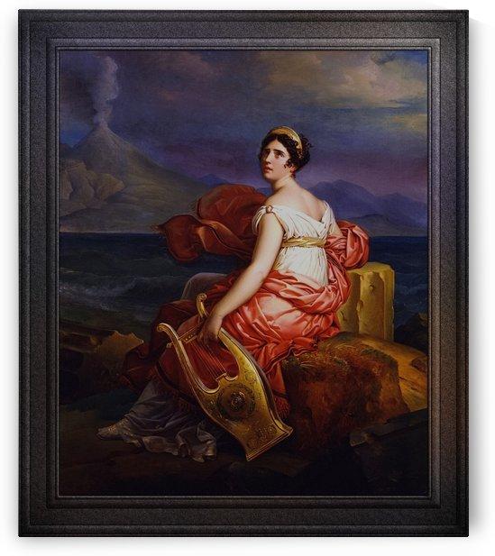 Portrait de Juliette Recamier by Francois Pascal Simon Baron Gerard Classical Fine Art Reproduction by xzendor7
