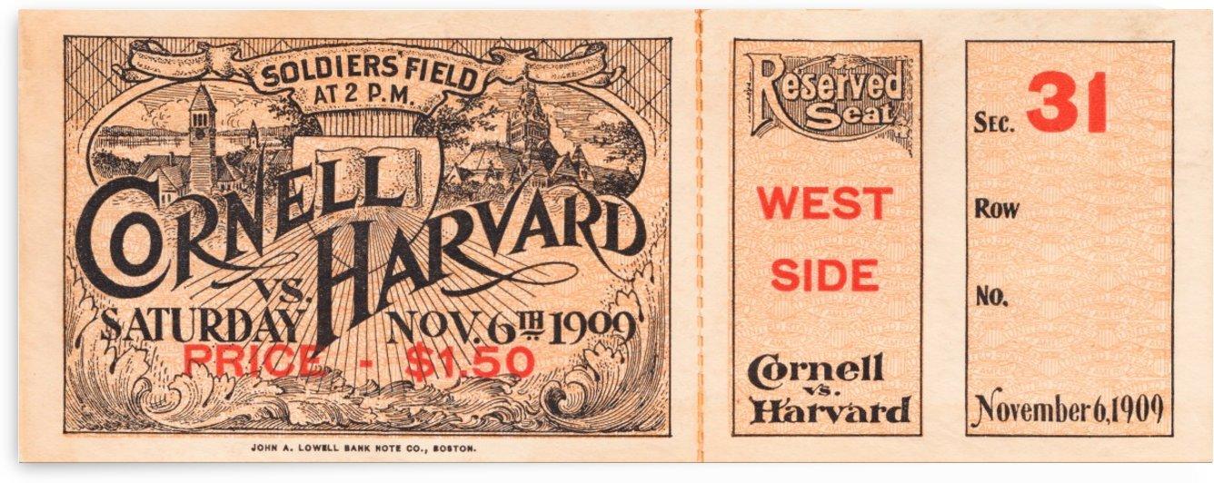 1909 Cornell vs. Harvard by Row One Brand