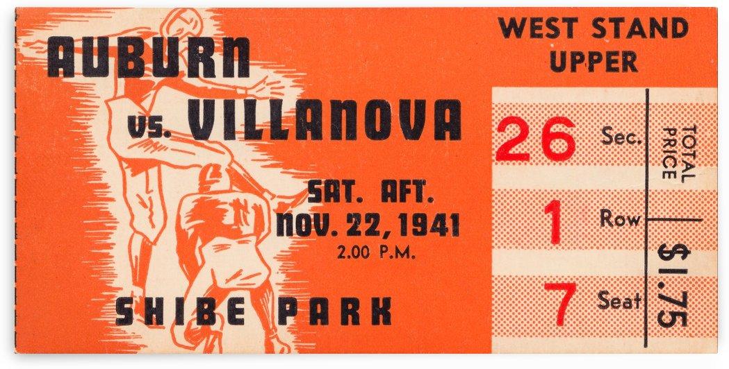 1941 auburn tigers villanova wildcats shibe park philadelphia west stand by Row One Brand