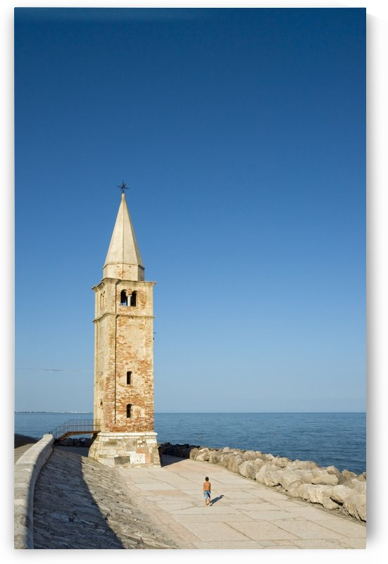 Bell Tower and Sea Caorle Italy by Petr Svarc