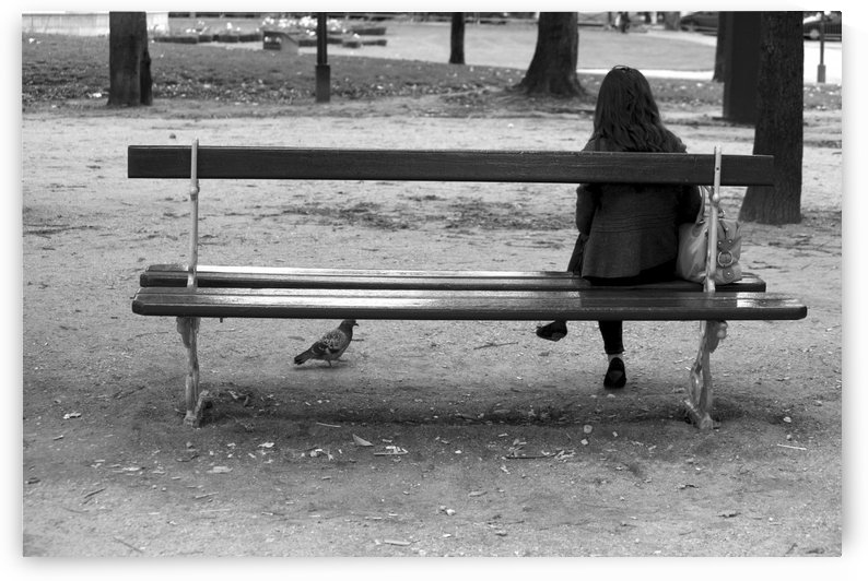 Park bench with Woman - Paris 2622 by Move-Art