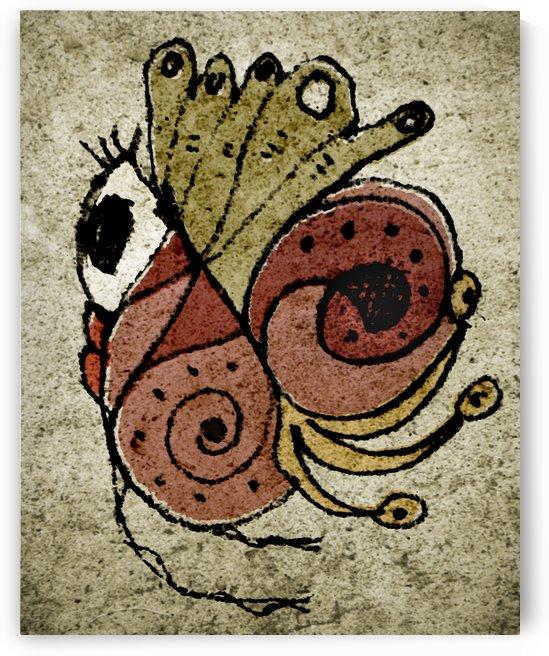 Fantasy Cute Bird Textured Drawing by Daniel Ferreia Leites Ciccarino