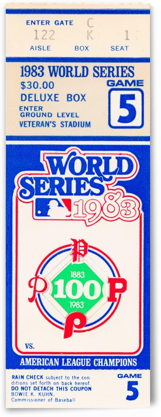 1983 world series philadelphia phillies deluxe box ticket stub by Row One Brand