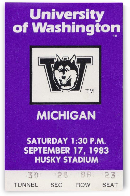 1983 Washington vs. Michigan by Row One Brand